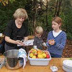 Vorbereitung der Äpfel