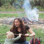 Matt das Feuer, aktiv Mutter und Kind