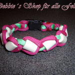 in Paracord geflochten * pink / mint