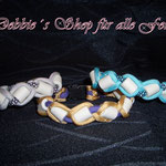 in Paracord geflochten * silver grey / silver diamonds * gold / lila * neon turquoise / neon turquoise diamonds