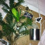 privilège jardin décoration composition hiver