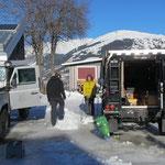 Wir hatten eine eigene Eisbahn vor der Haustüre...