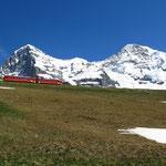 Station Kleine Scheidegg mit Jungfraubahn