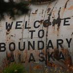 Grenzpunkt Alaska/Kanada