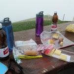 Picknick mit bester Aussicht....im dicken Nebel