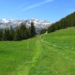 Schöner Bergwanderweg zur Biglenalp