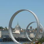 Ile de Nantes : Les anneaux de Buren
