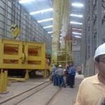 Talleres para el montaje de las turbinas