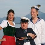 """""""Gamsbart Ahoi, ein Kabarettistischer Heimatabend auf hoher See"""" (mit Helmut Schleich und Traudi Siferlinger, Regie: Martina Schnell, Foto: Thomas Merk)"""