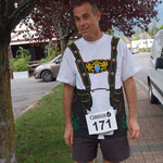 Laurent in Triathlon-Tracht