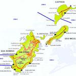 mappa isole tremiti