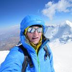 Kurz unterhalb vom Gipfel