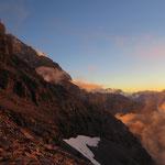 Sonnenuntergang im Aufstieg zur Guggihütte