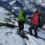 Mit Raphi auf dem Gipfel