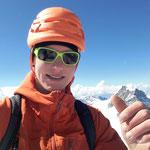 Nach 3h23min auf dem Gipfel, jupie!