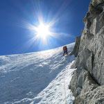 Letzte Eislänge, nochmals coole Kletterei