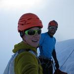 Gipfel Blüemlisalphorn 3661m - es war windig :-)