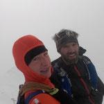 Auf der Jungfrau, es war sehr windig und kalt.