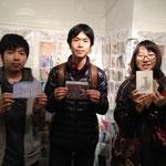 出展者と3ショット(Kaz、Naoya Yoshizawa、kanon)