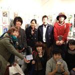 PosCo開催の記念写真 (おおもりさとみ、めじろいろ、Nattsu、WISH、みやもと、きょんちこ、Kaz、YADA YUMIKO)