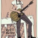 The Avett Brothers gig poster by Charles Crisler