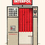 Interpol gig poster by Lil Tuffy
