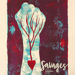 Savages gig poster by Spiegelsaal