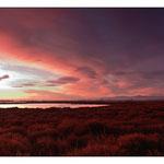 Levé de soleil sur l'étang de Salses