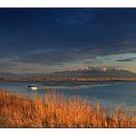 le Canigou de l'étang de Canet plage