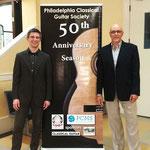 Con Kevin Cope, guitarrista, compositor, Presidente de la Philadelphia Classical Guitar Society. 12 de marzo de 2017.
