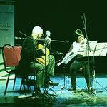 A dúo con maría Amalia Maritano, en Las Parejas.