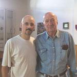 Con el Maestro Eduardo Falú, en Rosario. 2001.