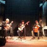 Trío Tallar el aire. Agrupación Cultural Victoria. Victoria (Entre Ríos). Agosto de 2016.