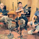 Sesión de grabación con el trío Tallar el aire.