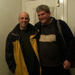 Con David Caswell, en casa de Marcelo. 2002.