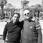 Con el guitarrista peruano Antonio Rosas. Arequipa, Perú.