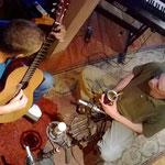 Con Daniel Mariatti durante su grabación en Estudio Corcovado.