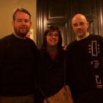 Con Christopher Dorsey y María Amalia Maritano.
