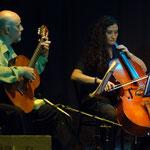 Con Virginia Morelli. Presentación del CD Alfalfa. Rosario, Sala Empleados de Comercio.