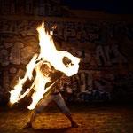 """""""Martin in Flammen"""" mit Doppelstock (Doublestaff)"""