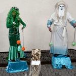 Die Double-Dolls auf dem Finther Adventsmarkt (Poseidon & Wassernixe)
