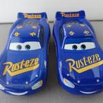 Fabulous Lightning McQueen V1 (L) vs. V2 (R)