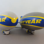 The Lightyear Blimp - Euro version (l) vs. The Lightyear Blimp - US version (r)