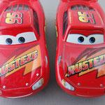 Rust Eze Lightning McQueen V1 (L) vs. V2 (R)