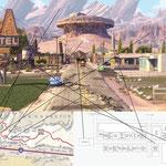 Radiator Springs - Entering town