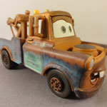 Mater 0840EAB - 67 gr - Plastic engine, two piece cab and cargo bed, riased eyebrow, brown wheels (V2)