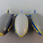 Cars 1 The Lightyear Blimp (l) - The Lightyear Blimp - Euro version (m) - The Lightyear Blimp - US version (r)