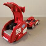 Cruisin Lightning McQueen with Trailer - rear