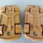 Lightning McQueen as Chester Whipplefilter V1 (L) vs V3 (R) NOTE: smaller front tires