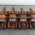 From left to right: Mater V1 (88 gr) - V2 (67 gr) - V3 (62 gr) - V4 (87 gr)
